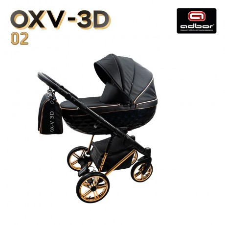 Adbor OXV-3D + Maxi-Cosi Coral wózek wielofunkcyjny  3w1 + baza isofix
