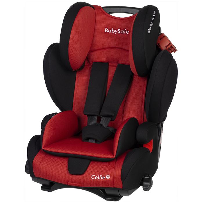 Fotelik BabySafe Collie 9-36kg Czerwono-Czarny