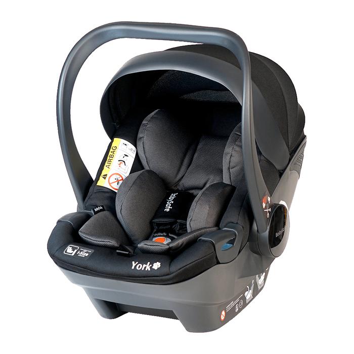 Fotelik BabySafe York 0-13kg szaro-czarny