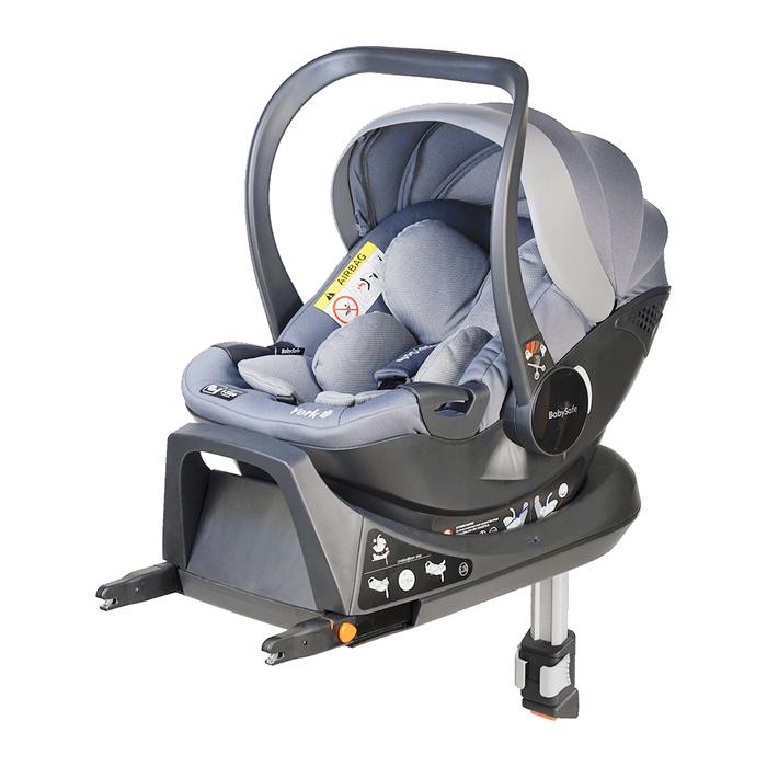 Fotelik BabySafe York i-Size szary