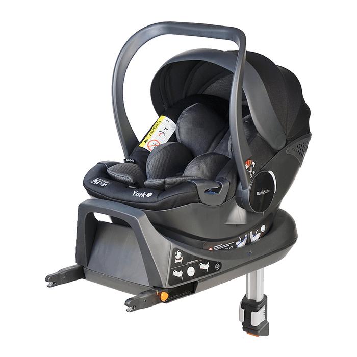 Fotelik BabySafe York i-Size szaro-czarny