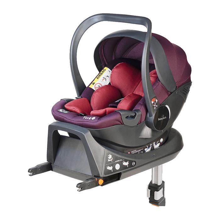 Fotelik BabySafe York i-Size różowo-fioletowy