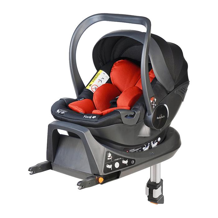 Fotelik BabySafe York i-Size czerwono-czarny
