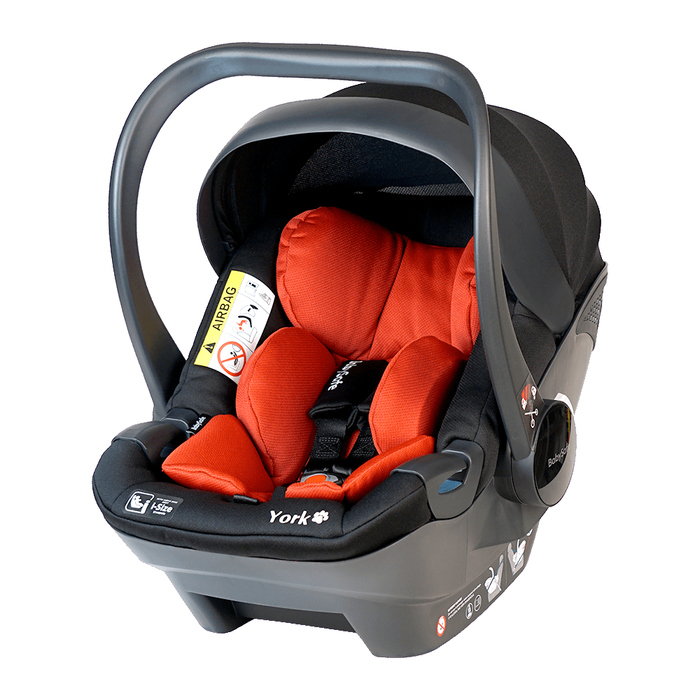 Fotelik BabySafe York 0-13kg czerwono-czarny