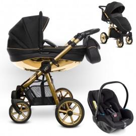 Babyactive Mommy Glossy Black Gold z Avionaut Pixel - wózek 3w1