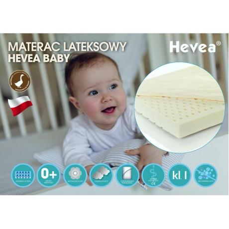 Materac lateksowy Hevea Baby 120/60 (Aegis Natural Care)