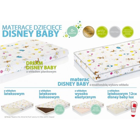 Materac wysokoelastyczny Hevea Disney Baby