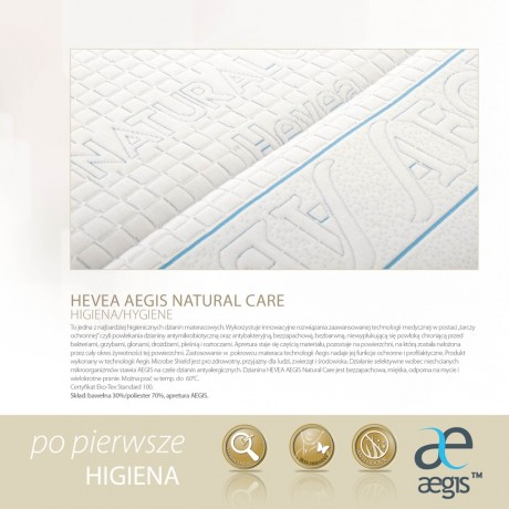 Materac kieszeniowy Hevea Junior Box Lateks Aegis Natural Care 200x90