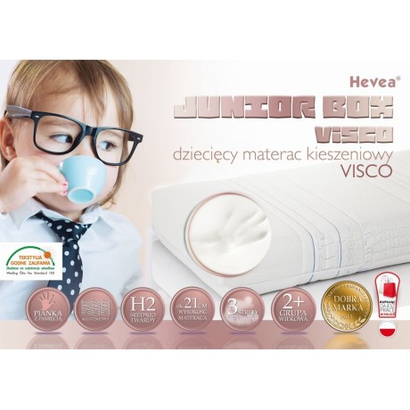 Materac kieszeniowy Hevea Junior Box Visco Aegis Natural Care 200x90