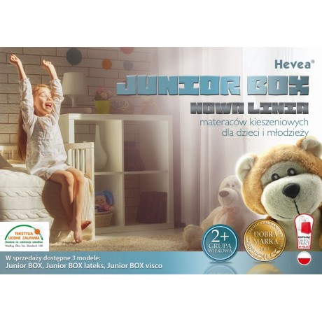 Materac kieszeniowy Hevea Junior Box Aegis Natural Care 200x90
