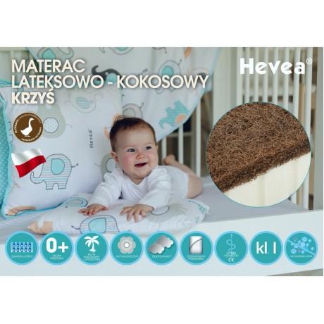 Materac lateksowo-kokosowy Hevea Krzyś 120/60 (Aegis Natural Care)