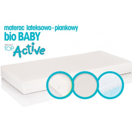 Materac z lateksem Hevea Top Active Bio Baby