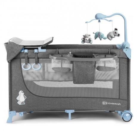 Łóżeczko turystyczne Kinderkraft  JOY Blue z akcesoriami