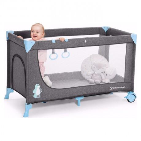 Łóżeczko turystyczne Kinderkraft  JOY Blue