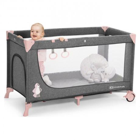 Łóżeczko turystyczne Kinderkraft JOY Pink