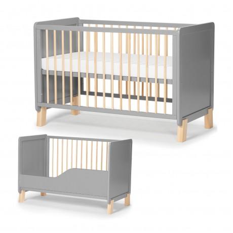 Łóżeczko drewniane 120x60 Kinderkraft Nico Grey