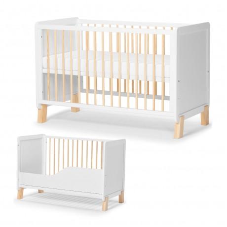 Łóżeczko drewniane 120x60 Kinderkraft Nico White