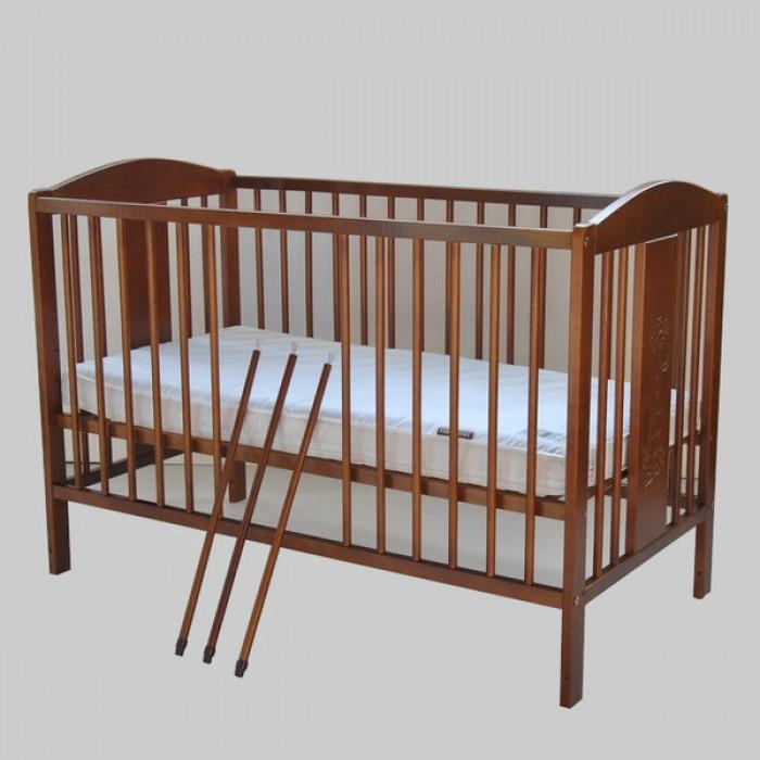 Łóżeczko 120x60 Safari kasztan