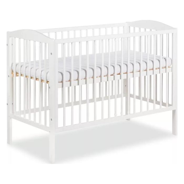 Klupś Henry białe łóżeczko 120x60