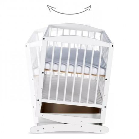 Łóżeczko 120x60 Henry sosna z szufladą i funkcją kołysania