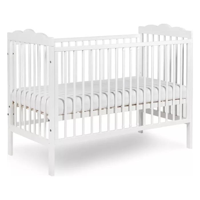 Klupś Oliver białe łóżeczko 120x60