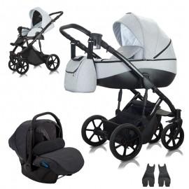 Milu Kids Bacio 01 z fotelikiem Kite 0-13kg - wózek  3w1
