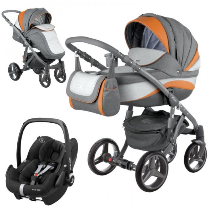 Wózek wielofunkcyjny Adamex Barletta New z fotelikiem Maxi-Cosi Pebble Pro i-Size