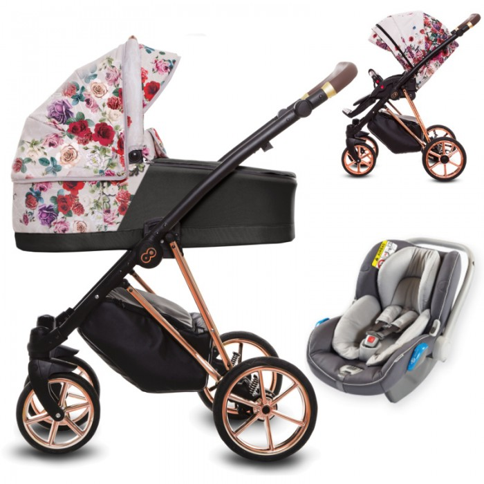 Wózek wielofunkcyjny Babyactive Musse Rose z fotelikiem Avionaut Kite+