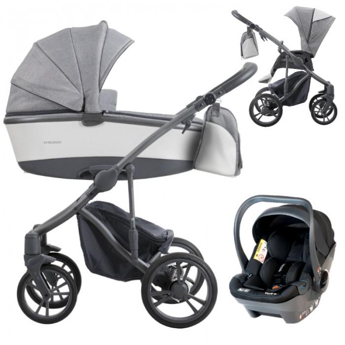 Wózek wielofunkcyjny Bebetto Bresso Grey z fotelikiem BabySafe York