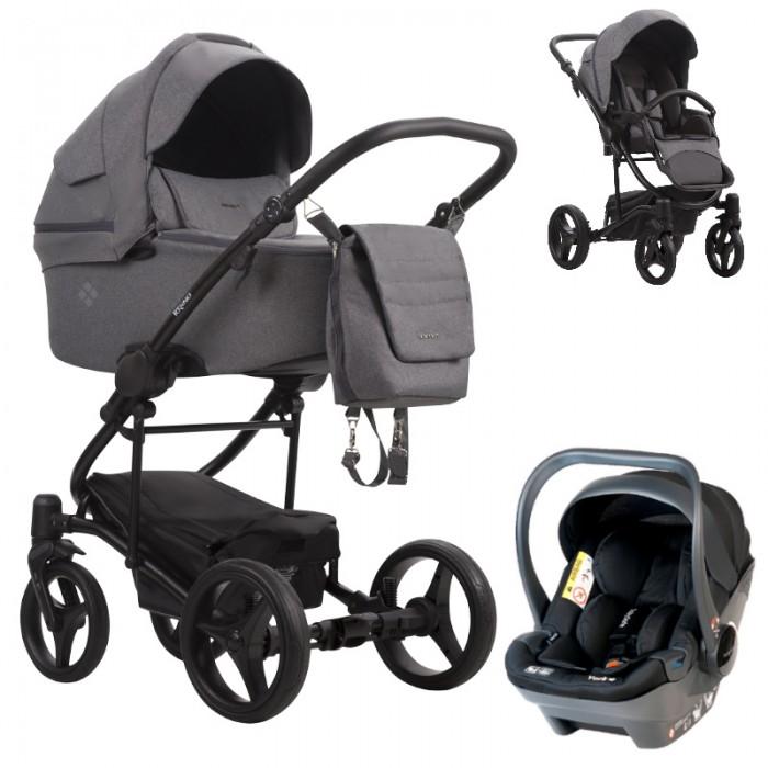 Wózek wielofunkcyjny Bebetto Torino Tex z fotelikiem Babysafe York