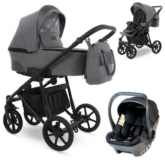 Camarelo Ollio z fotelikiem Babysafe York wózek wielofunkcyjny 3w1