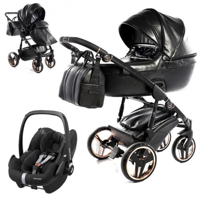 Wózek wielofunkcyjny Junama Termo z fotelikiem Maxi-Cosi Pebble Pro i-Size