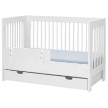 Pinio Basic łóżeczko 120x60 z szufladą i barierką